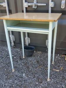 Oakville Vintage Metal Utility Table High Vintage laminate top Retro or Rustic Decor Shelf Well made Sturdy