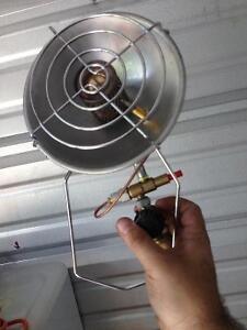 2x outdoor propane heaters