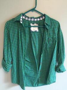 Abercrombie and Fitch plaid button up Size S Kitchener / Waterloo Kitchener Area image 3