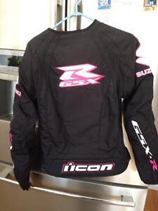 Women's icon motorcycle jacket and gloves Kingston Kingston Area image 3