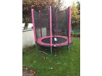 Pink 6FT PLUM Trampoline with Enclosure