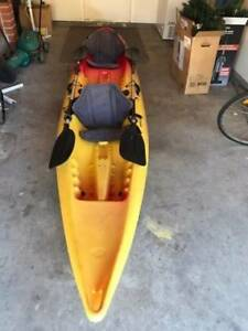 kayak 2 x seater with 2 paddles and trolley New Lambton Newcastle Area Preview