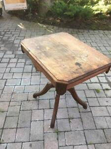 Antique Parlour table on Wheels
