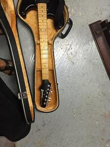 Eiectric guitar and acoustic guitar