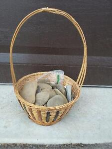 Decorative basket with stones London Ontario image 2