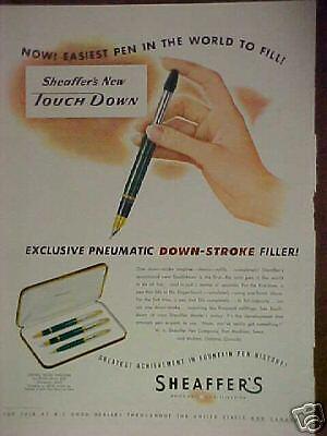 1949 Sheaffer's Pen,Pencil,Statowriter Set print ad