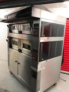 $28k+ Moretti forni double stack pizza oven with proofer , mint !! Only $12,000