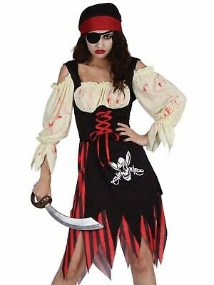 ZOMBIE PIRATE/ WENCH LADY FANCY DRESS OUTFIT GREAT FOR HALLOWEEN SIZE 16/18