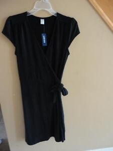 Women's Old Navy black jersey knit cap sleeve dress small NWT London Ontario image 2