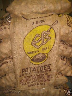4 100 lb. burlap potato sacks bags (decorating, racing)