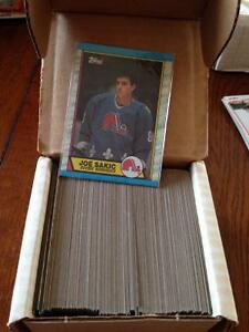 Complete set of 89-90 topps hockey cards