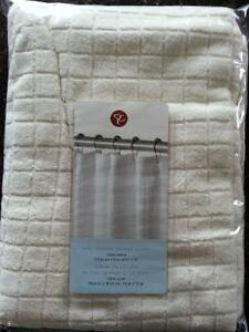 Brand New, never used PC terry towel shower curtain