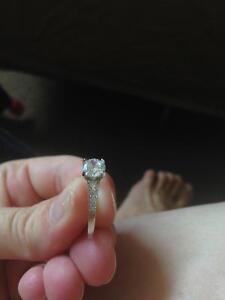 Promise Ring - 925 silver with cubic zirconia Kawartha Lakes Peterborough Area image 8