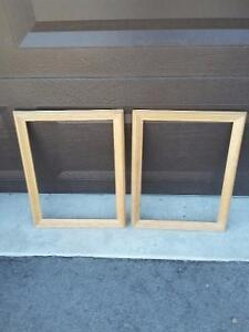 Set of 2 raw wooden framed decorative DIY supplies Brand new London Ontario image 3