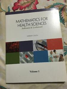 Mathematics for health sciences volume 1, Aufmann and Lockwood
