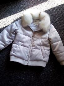 baby girl river island jacket 12-18 months