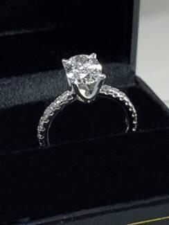 $22000 1.3 CARAT VVS2 Engagement Diamond Ring, Solitaire Diamond
