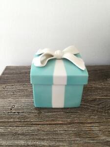 Tiffany ceramic jewellery box