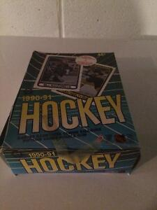 90-91 O-Pee-Chee hockey cards.