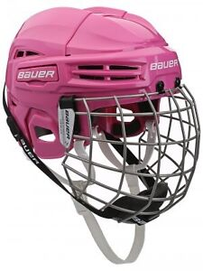Adjustable girls Bauer hockey helmet with face mask