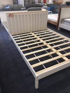 Brand New White Pine Wood Bed Frame Single Double Queen available