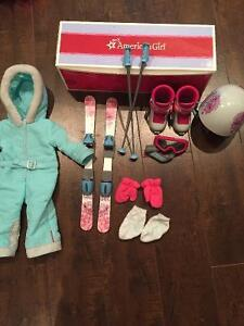 American girl ski set and outfit