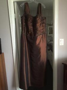 Formal brown gown for sale