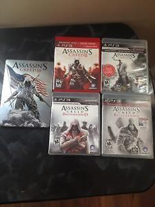 package Assassin's Creed w A Collectors metal case 25$