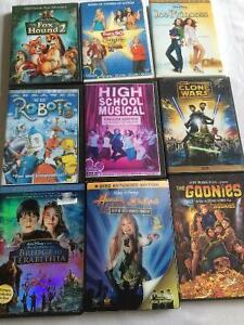 9 Kids DVDs for 8.00 or 1.00 each