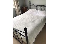 solid double bed with mattress can deliver