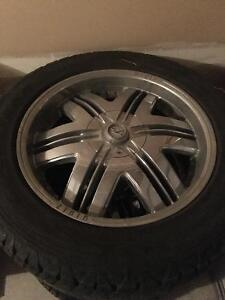 """20"""" Chrome Rims with Tires"""