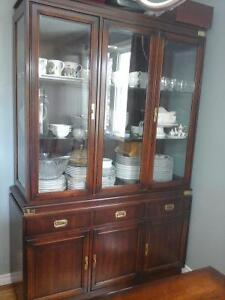 Moving Sale -- Beautiful Solid Wood Hutch/China Cabinet