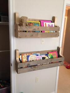 Built to order Hanging shelves made from reclaimed wood