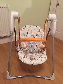 Nearly New Swing Chair - Graco Baby Delight Hide and Seek