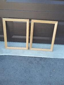 Set of 2 raw wooden framed decorative DIY supplies Brand new London Ontario image 2