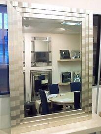 Wall Mirror in beautiful Silver Triple Frame - Manhattan. 114.5 x 84cm. BNIB
