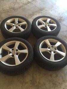 4 Winter Tires Good Year and Mazda Rims Set Package