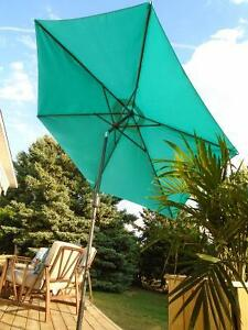 GORGEOUS EXTRA LARGE 10 FT TURQUOISE UMBRELLA *** CAN DELIVER
