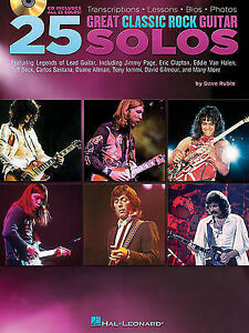 25 Great Classic Rock Guitar Solos, New, Dave Rubin Book
