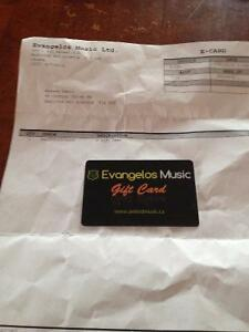 United Conservatory of Music (Evangelos Music) Gift Card