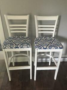 Refinished bar stools for sale