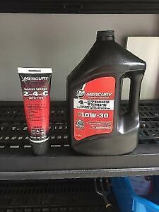 New 10w-30 Mercury outboard oil and Mercury Marine Greese