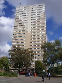 Two bedroomed flat in a high rise block at Hampton View, Wolverhampton