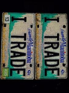 I TRADE Personalize Vanity License Plate