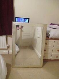Large Silver Mirror - Frame 104×74cm