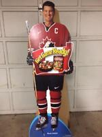 Huge Collection of 14 Cardboard Advertising Displays NHL / NFL