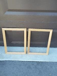 Set of 2 raw wooden framed decorative DIY supplies Brand new London Ontario image 4