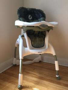 Chaise haute Graco ajustable