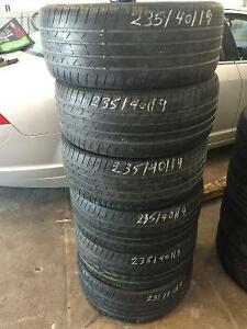For Sale 6 nexen CP671 used tires 235-40-19