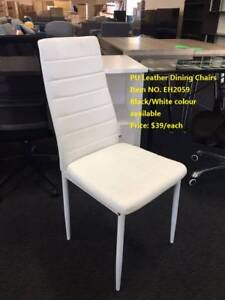 Brand New PU Leather Chairs in Black/White colour (EH2059)